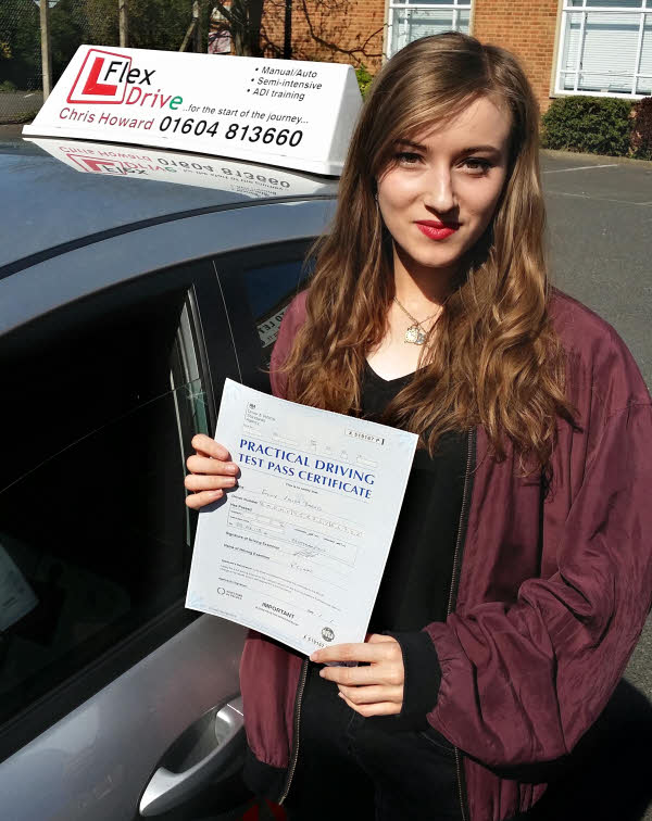 Emily Barnes passes first time