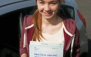 Samatha Tidbury passed with Flexdrive Driving School