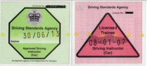 licences -pink and green