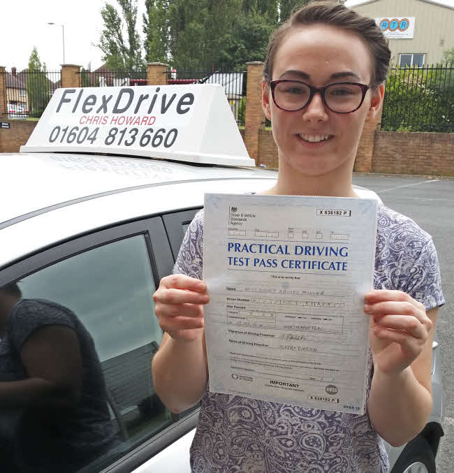 Ashley Miller passed first time with Flexdrive Driving School