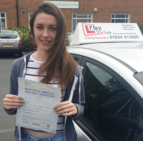 Lucy passes first time having taken driving lessons with Flexdrive Driving School