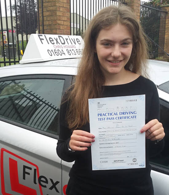 Driving Lessons Northampton | Katie passed having taken driving lessons with Flexdrive Driving School