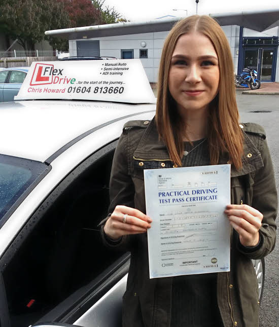 Driving Lessons Wellingborough   Emily passes 1st time with Flexdrive driving School