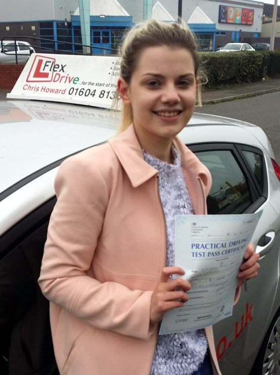 Driving Lessons in Wellingborough   Lauren Abott passed first time with Flexdrive Driving School