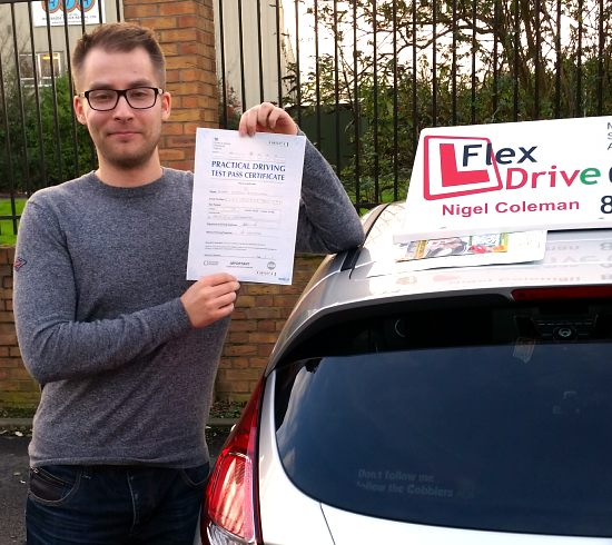 driving lessons northampton | Adam has been taing lessons with Flexdrive Driving school