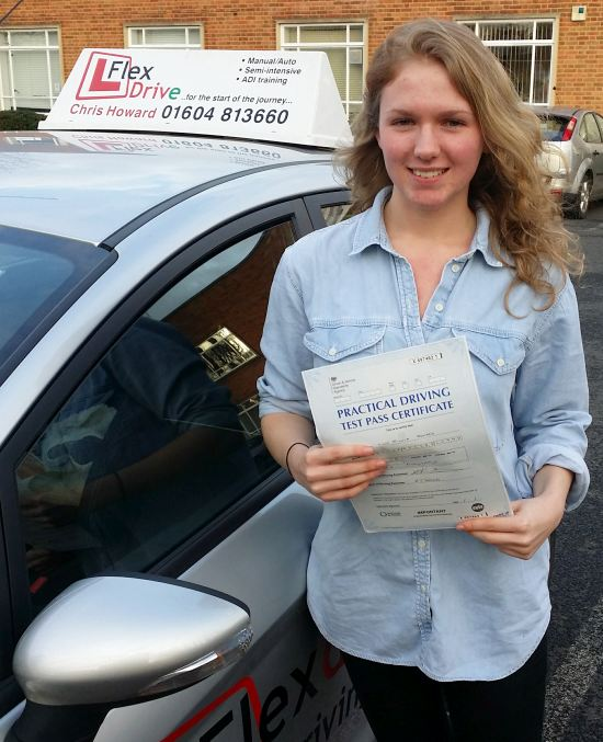 driving lessons northampton | lucy passed 1st time with flexdrive driving school