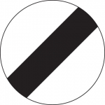 National speed limit sign - Flexdrive