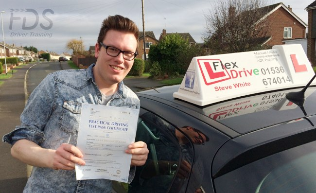 Driving lessons in Wellingborough | adam passes 1st time with Flexdrive Driving School