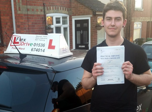 driving lessons in wellingborough | casey passed with 0 driving faults- wow