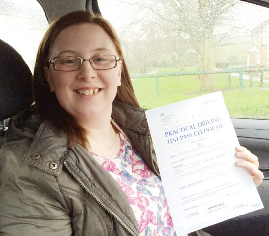 driving lessons in wellingborough | Hayley cooper passes with Flexdrive
