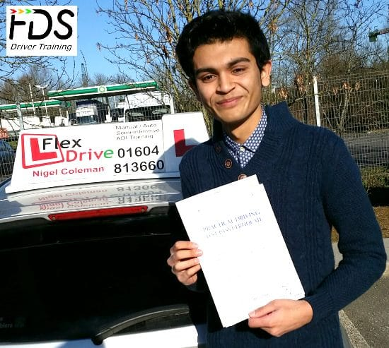 Driving Lessons in Wellingborough | Shaun DaCosta pases with Flexdrive Driving School