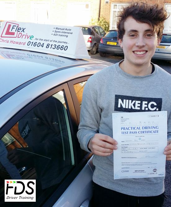 driving lessons in Northampton | Will passes first time with Flexdrive Driving School
