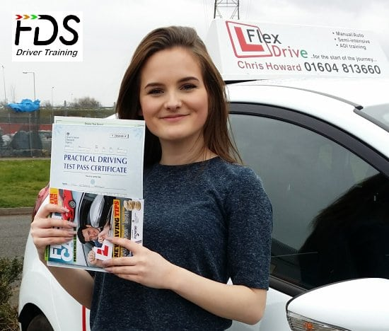 Driving lessons in wellingborough | Beth passes 1st time with Flexdrive Driving School