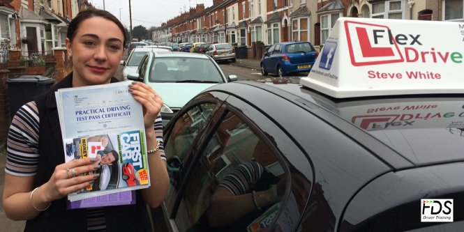 Driving Lessons in Wellingborough | Francesca passes with Flexdrive Driving School
