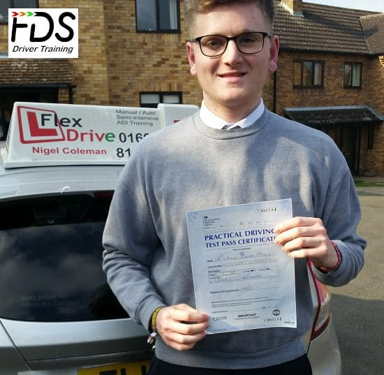 Driving Lessons in Northampton | Sam passed 1st time with Flexdrive Driving School