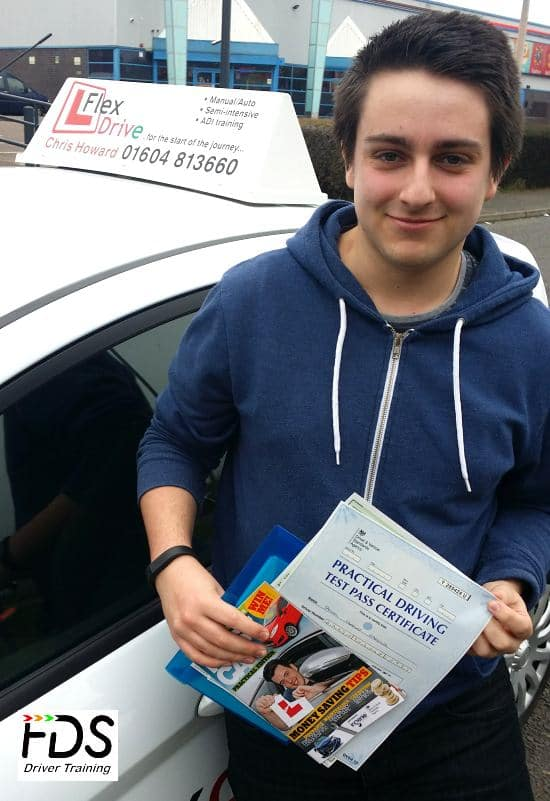 Driving Lessons in Wellingborough | sammy passed first time with Flexdrive Driving School