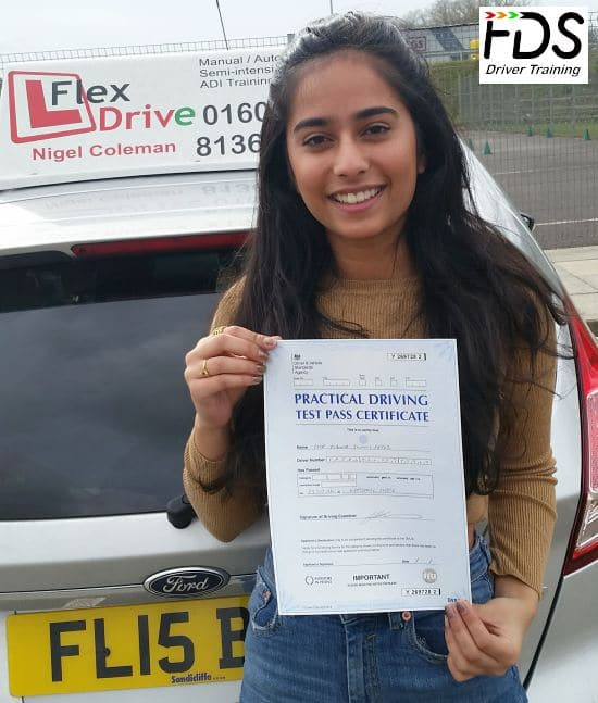 Driving Lessons in Kettering | Tianna passes 1st time with Flexdrive Driving school