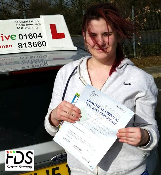 Driving Lessons in Kettering | Tiff passed with Flexdrive Driving School