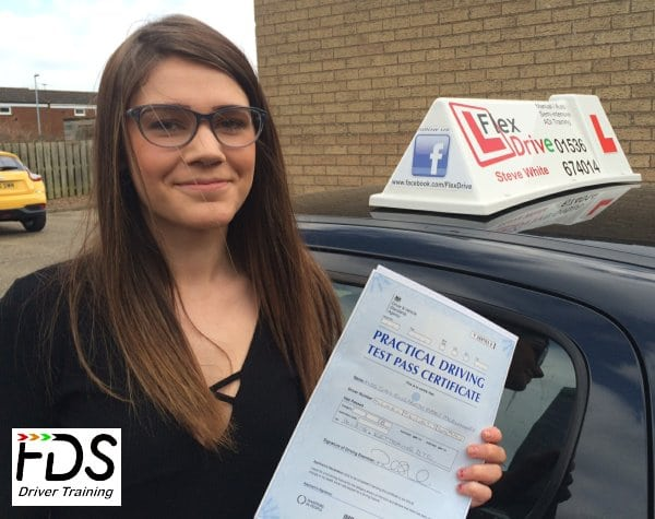 Driving lessons Corby | sian passed first time with Flexdrive Driving School
