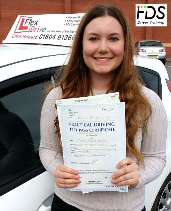 Driving Lessons in Wellingborough | Caly passes with Flexdrive Driving School