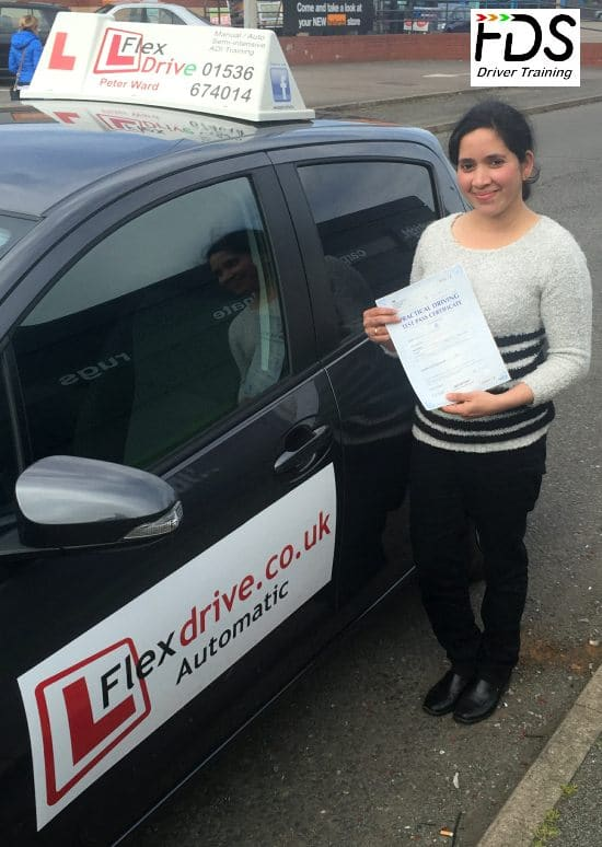 Driving Lessons in Wellingborough and Rushden | Gini passed 1st time with Flexdrive Driving School