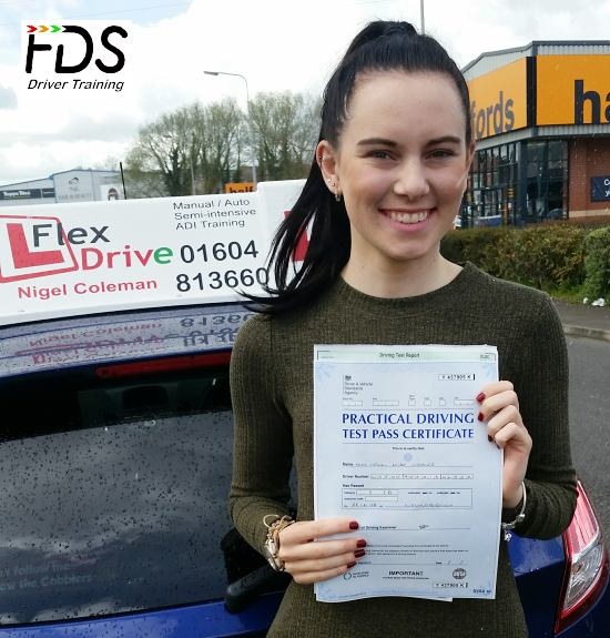 Driving Lessons in Wellingborough | Megan passed with Flexdrive Driving School