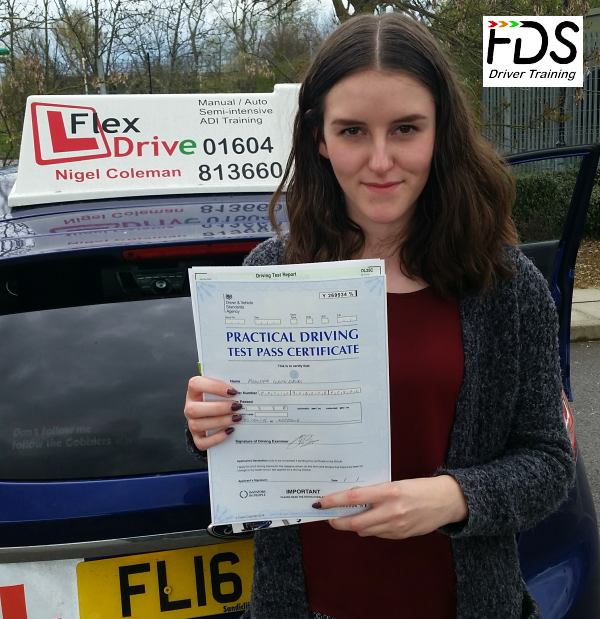 Driving Lessons Wellingborough | Philippa passes 1st time with Flexdrive Driving School