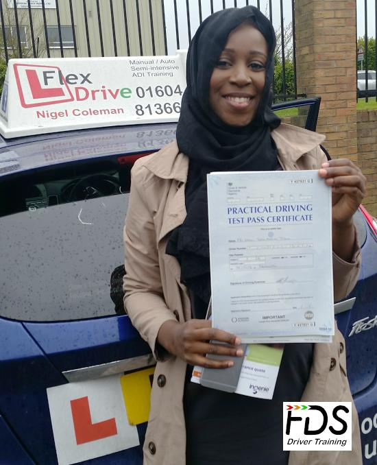 Driving Lessons in Northampton | Ummi passed with Flexdrive Driving School