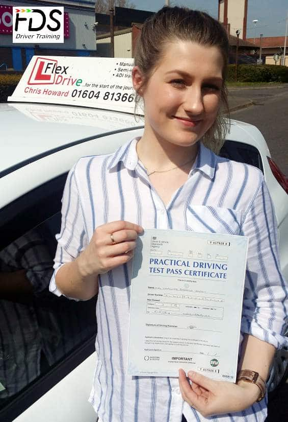 Driving Lessons in Wellingborough | Charlotte passes 1st time with Flexdrive Driving School