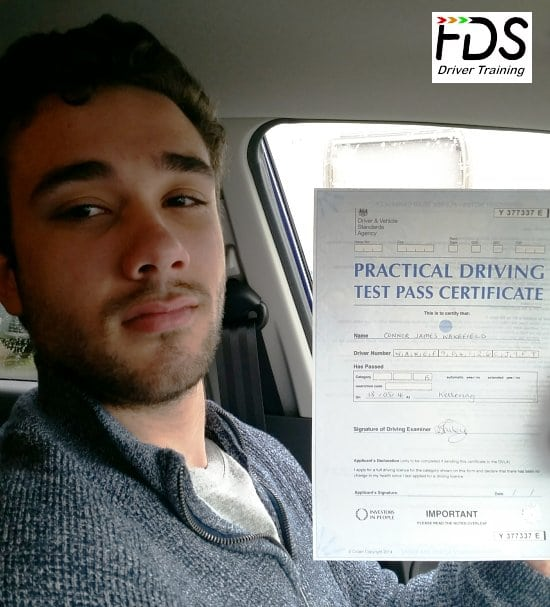 Driving Lessons in Kettering | Connor Wakefield passes with Flexdrive Driving School