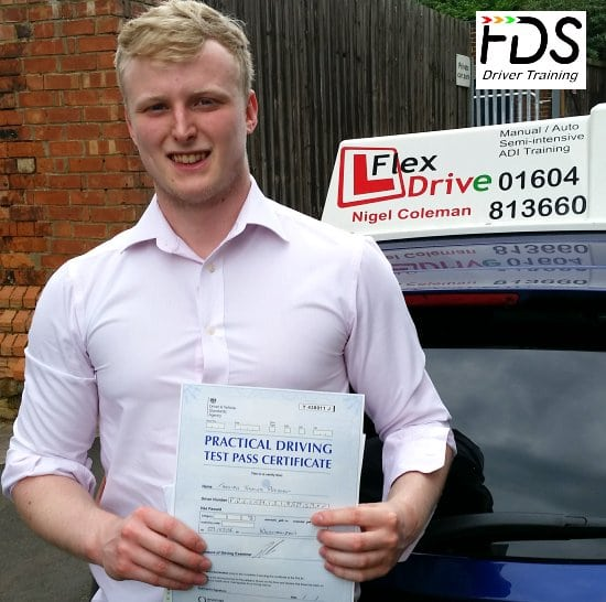 Driving Lessons in Northampton | Tom passes with Flexdrive Driving School