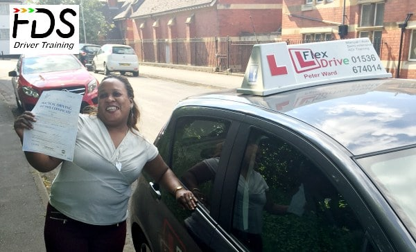 Driving Lessons in Wellingborough | claudette passed with Flexdrive Driving School