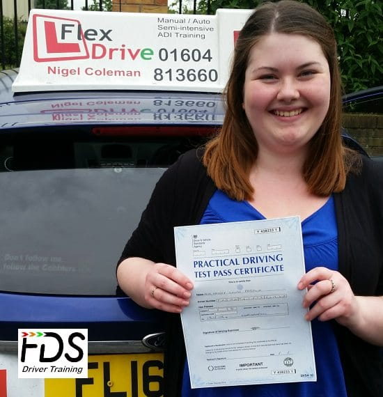 Driving Lessons in Northampton | Hayley passed 1st time with Flexdrive Driving School