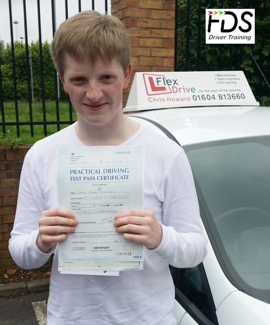 Driving Lessons in Northampton | James passes with Flexdrive Driving School