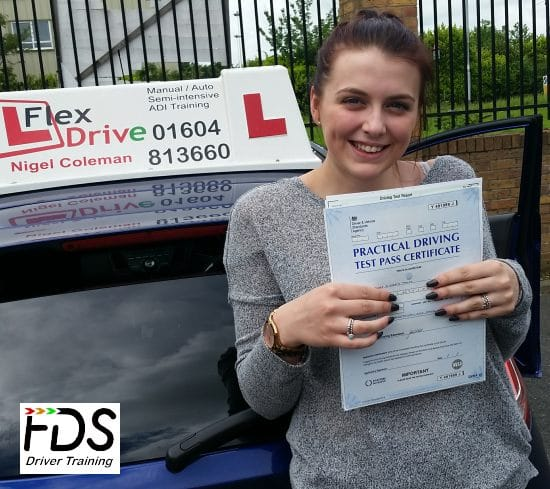 Driving Lessons Northampton | Jodie passes 1st time with Flexdrive Driving School