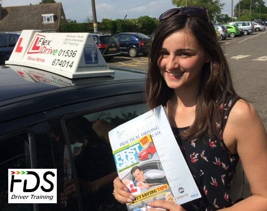 Driving Lessons in Wellingborough | Sarah passed1st time with Flexdrive Driving School