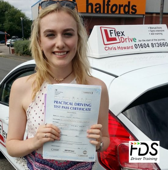 Driving Lessons in Wellingborough | Hollie passed 1st time with Flexdrive Driving School