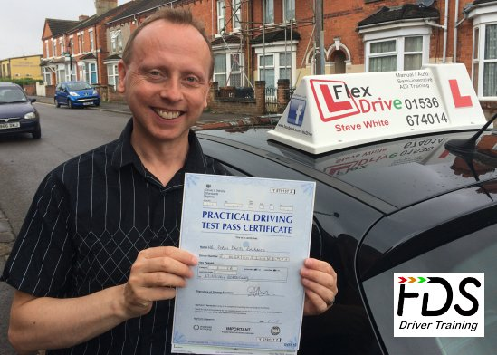 Driving Lessons in Wellingborough | Robin passes first time with Flexdrive Driving School