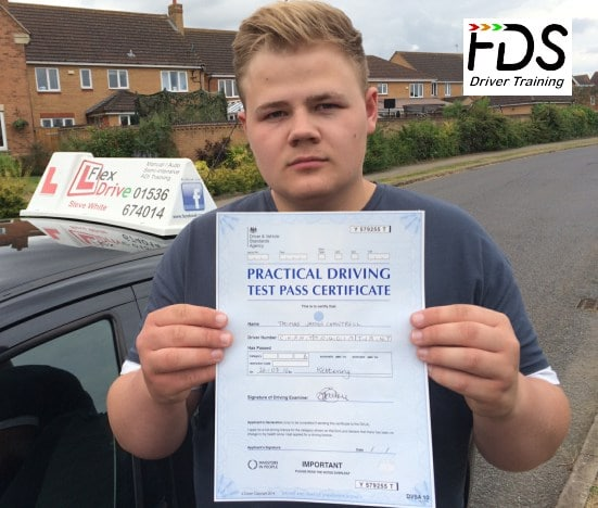 Driving Lessons in Kettering | Tom Chantrell passes first time with Flexdrive Driving School