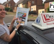 Driving Lessons in Kettering | Sarah passes with Flexdrive Driving School