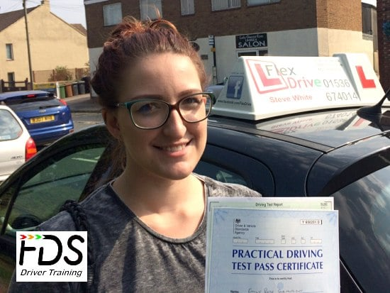 Driving Lessons in Wellingborough | Emily Stainwright passes 1st time with Flexdrive Driving School