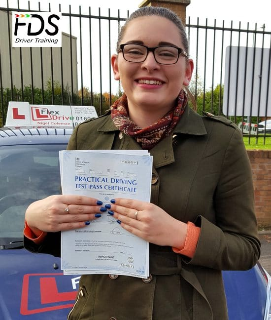 Driving Lessons in Northampton | Channelle Passed with Flexdrive Driving School