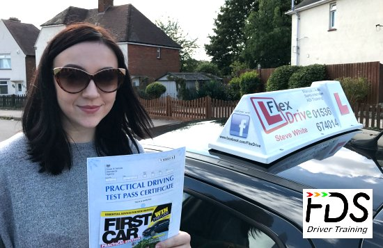 Driving Lessons in Wellingborough   Courtney passes with Flexdrive Driving School