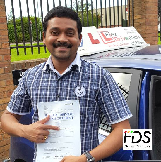 Driving Lessons in Northampton | Siva passes with Flexdrive Driving School