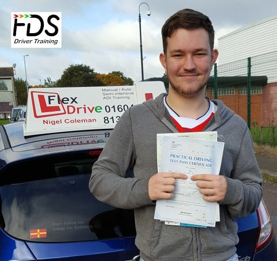 Driving Lessons in Wellingborough   Peter passed 1st time with Flexdrive Driving School