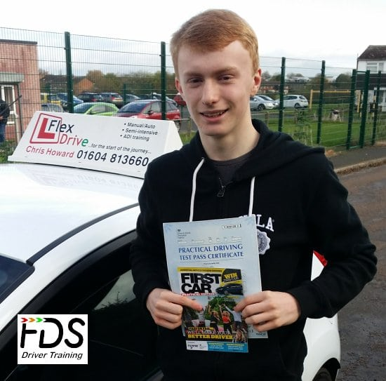 Driving Lessons in Wellingborough | Danny passewd 1st tme with Flexdrive Driving School