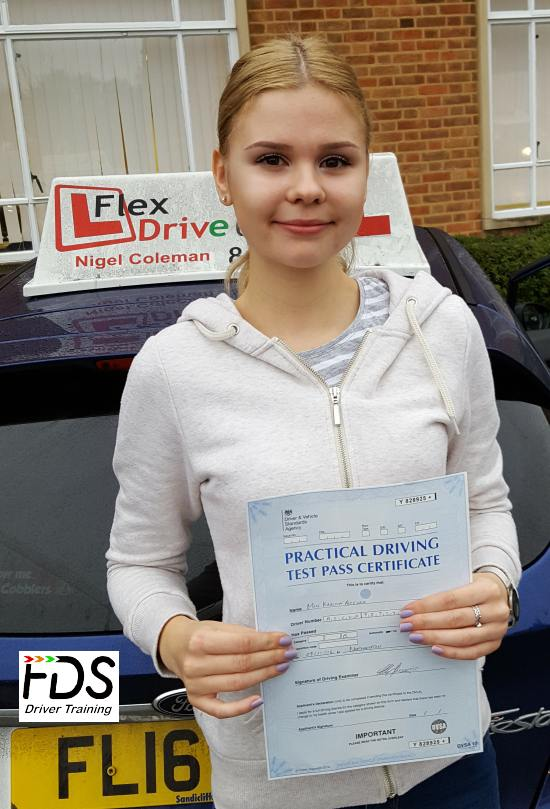 Driving Lessons in Northampton | Karina passes 1st time with Flexdrive Driving School