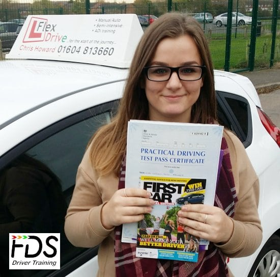 Driving Lessons in Wellingborough | Meg passed 1st time with Flexdrive Driving School