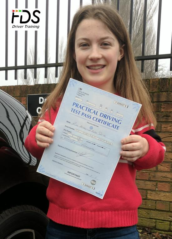 Driving Lessons in Northampton | Bella passed 1st time with Flexdrive Driving School