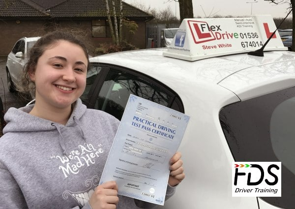 Driving Lessons Wellingborough | Eleni passed 1st time with Flexdrive Driving School